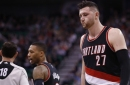 Video: Jusuf Nurkic Hit in Groin by Thabo Sefolosha in Overtime of Blazers Loss to Jazz