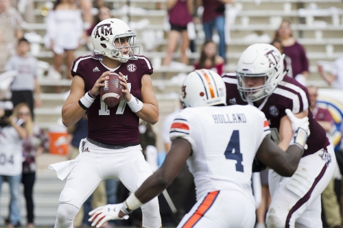 Starkel's spark can't get Aggies win against Tigers, but good enough to earn starting job back