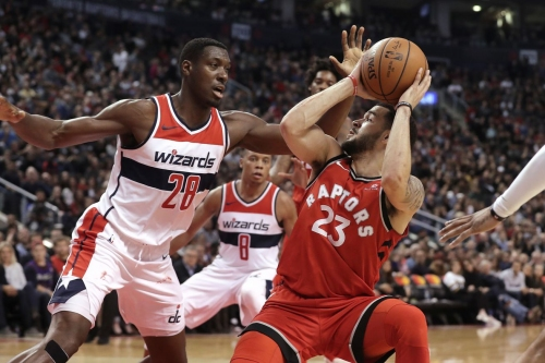 Raptors play from behind and lose to the Wizards, 107-96