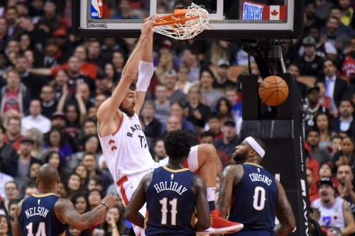 Raptors band together to take down Pelicans, 122-118