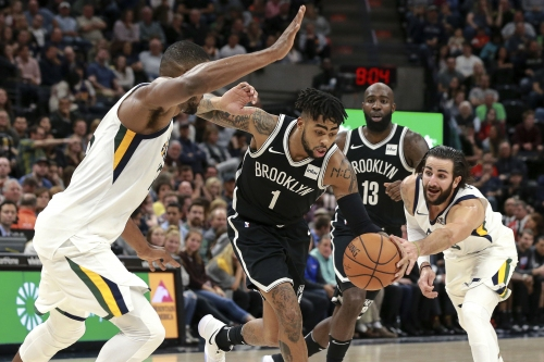 D'Angelo Russell exits with knee injury as Nets fall to Jazz