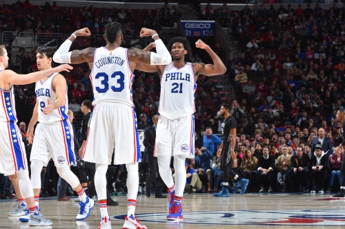 Joel Embiid, Robert Covington are a lethal combination on the court