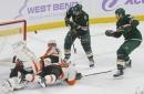 Dubnyk earns 3rd straight shutout as Wild beat Flyers 3-0 (Nov 14, 2017)