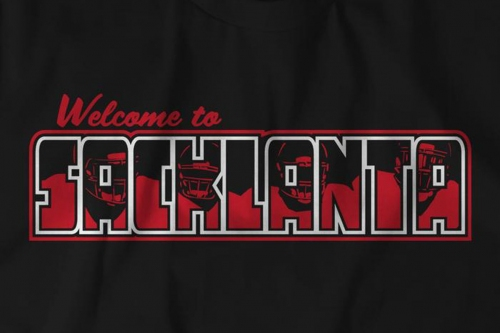 Commemorate Adrian Clayborn's six sack day with a Sacklanta t-shirt