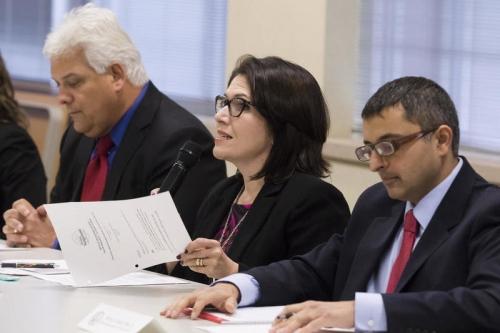 Gov. Bruce Rauner's task force on opioid epidemic stops in Woodstock