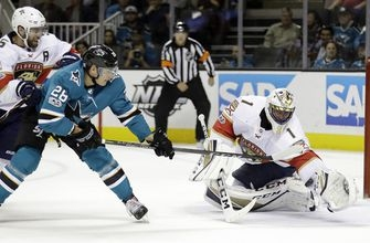 Luongo stops 35 shots in Panthers' 2-0 win over Sharks (Nov 16, 2017)