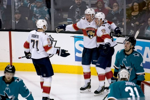 Luongo stops 35 as Panthers post 2-0 win over Sharks