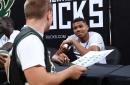 Bucks' Giannis Antetokounmpo signed a frying pan for a fan