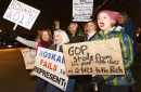 Hundreds protest Rep. Peter Roskam's stance on health care, tax plan at GOP fundraiser