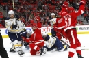 Red Wings' match line does job at both ends of ice