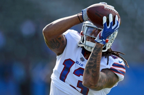 Buffalo Bills wide receiver Kelvin Benjamin leaves game on cart with knee injury