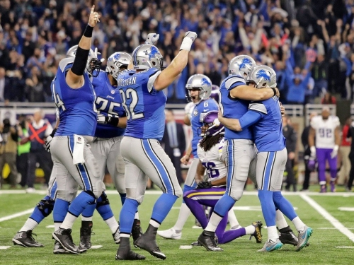 Early line for Lions-Vikings game on Thanksgiving Day calls it a pick 'em
