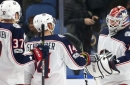 Blue Jackets top Sabres 3-2 for 4th straight win.