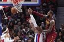 Cleveland Cavaliers at Detroit Pistons player grades