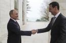 On surprise Russia trip, Assad and Putin talk post-war Syria