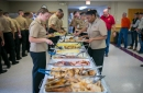 Sailors celebrate Thanksgiving with chicken wings, turkey, chocolate in Algonquin