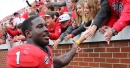 Georgia's Sony Michel, Nick Chubb have big impact on quiet day