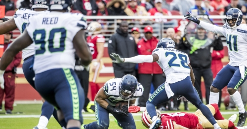 Top five of all time? Seahawks teammates laud Bobby Wagner's crazy interception vs. 49ers
