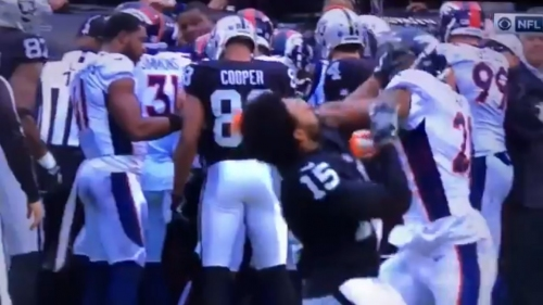 Watch Aqib Talib and Michael Crabtree get ejected for fighting