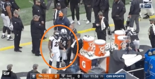 Marshawn Lynch escorted Aqib Talib to locker room after he was ejected