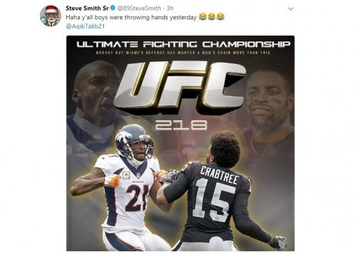 Steve Smith shares hilarious UFC poster featuring Talib and Crabtree