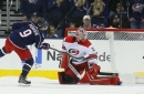 Blue Jackets score twice in shootout to top Hurricanes, 3-2
