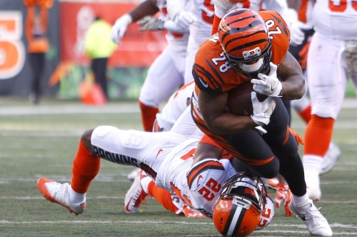 Bengals Film Room: Running game comes alive against Browns