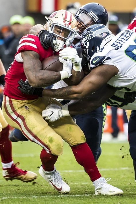 No longer playing short-handed, Seahawk defensive lineman Quinton Jefferson showing his worth