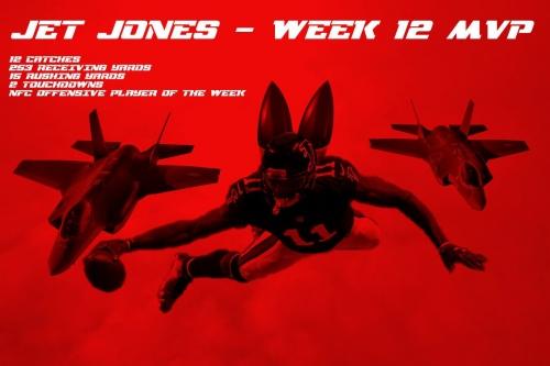 Julio Jones wins game MVP for historic game against Buccaneers