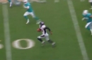 Watch Justin Simmons take a Jay Cutler pass to the house
