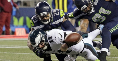 They did it again: Seahawks force critical turnover at the goal line against the Eagles