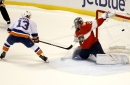 Islanders win shootout after Panthers goalie exits with injury