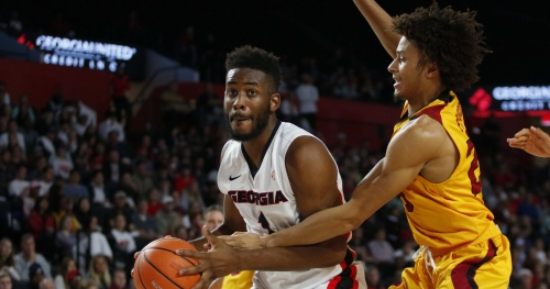 Georgia basketball holds on to knock off Winthrop