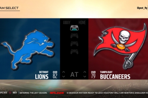 WATCH: Watch the Week 14 matchup between Lions-Buccaneers on Madden NFL 18