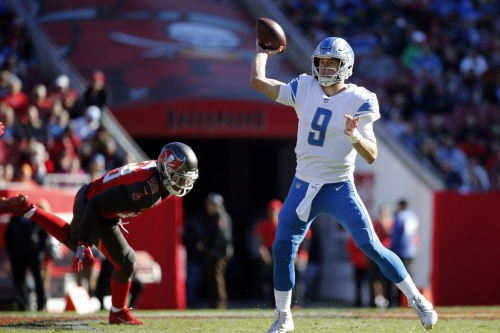 Matthew Stafford wasn't sacked in a game for the first time in 2 years