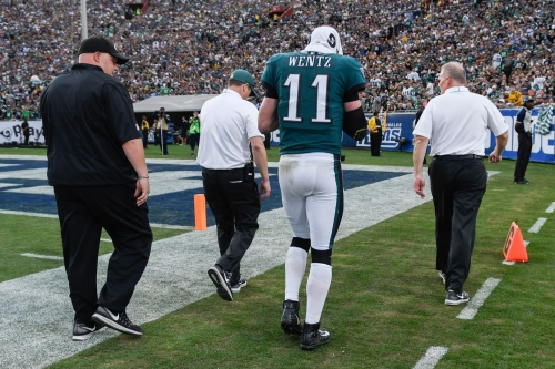 With Carson Wentz's injury, the NFC playoff race is going sideways