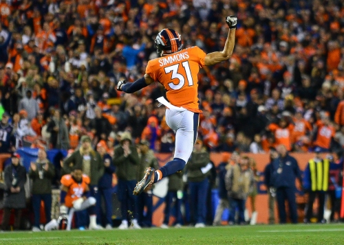 Broncos safety Justin Simmons injured his ankle while celebrating