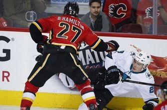 Donskoi scores late in third to lift Sharks over Flames (Dec 14, 2017)