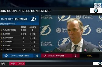 Jon Cooper says Lightning had some fear coming into Arizona