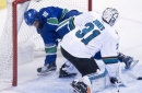 Gagner lifts Canucks over Sharks 4-3 in OT to snap skid (Dec 15, 2017)