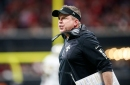 Sean Payton slapped with $10,000 fine for running on the field versus Falcons