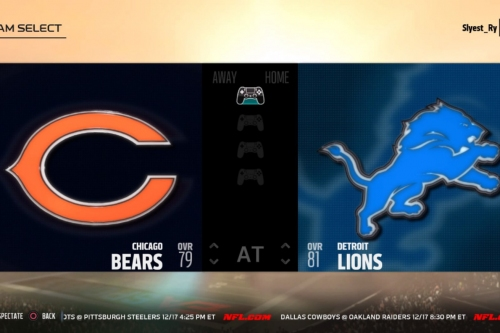 LIVE: Watch the Week 15 matchup between Lions-Bears on Madden NFL 18
