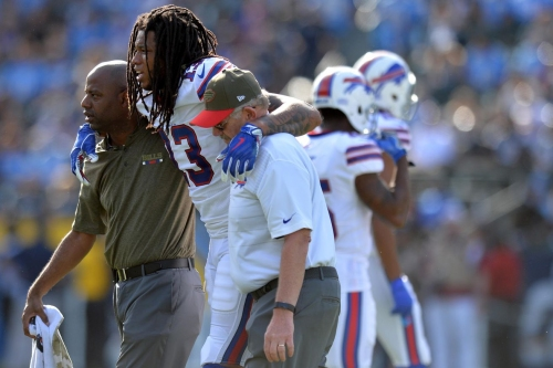 "Buffalo Bills WR Kelvin Benjamin ""hopeful"" he can play against Miami Dolphins"