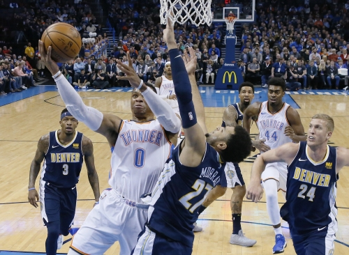 Russell Westbrook leads Oklahoma City's rally against Denver Nuggets