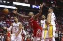 Lakers end Rockets win streak at 14 122-116