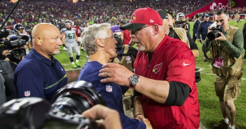 Seahawks coach Pete Carroll says Bruce Arians 'can say whatever he wants' after calling CenturyLink Arizona's home field