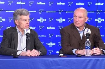 Blues press conference on Doug Armstrong's extension