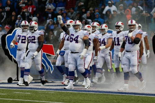 Buffalo Bills wearing throwback uniforms for the second time this season