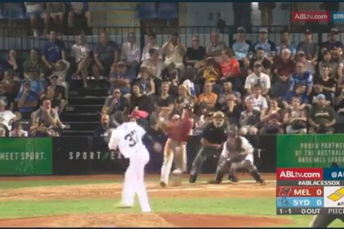 Tyler Neslony homers in ABL