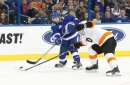 Lightning's lengthy home winning streak snapped with loss to Flyers